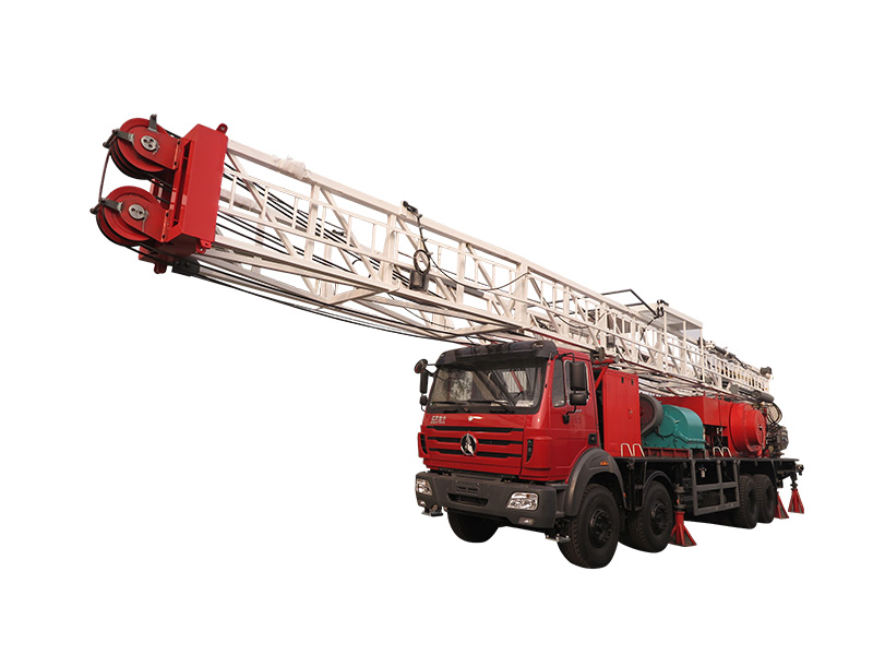Truck mounted mechanical drilling rig